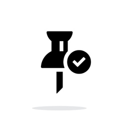 Mapping check pin icon on white background vector