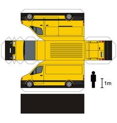Paper model of a van vector image