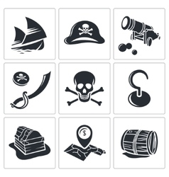 Pirates Icon collection vector image