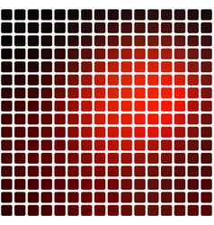 Red brown black rounded mosaic background over vector
