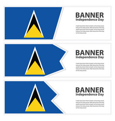 St lucia flag banners collection independence day vector