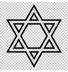 Star shield magen david vector