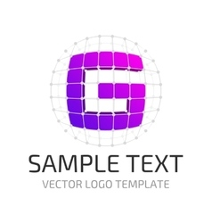 Template logo g vector image vector image