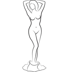 undressed woman vector image