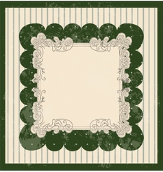 Vintage style background with scale pattern vector image vector image