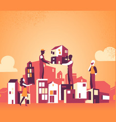 We are designing our city for a better tomorrow vector