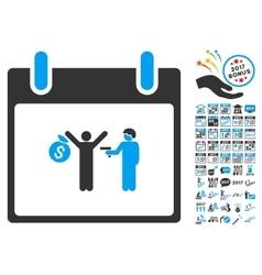 Arrest Calendar Day Flat Icon With Bonus vector image