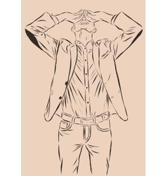 Vintage hand drawn gentleman men s clothing vector