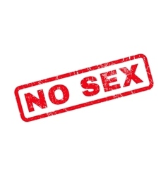 No sex rubber stamp vector