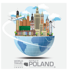 Republic of poland landmark travel and journey vector