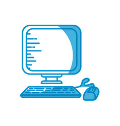 Desktop computer technology vector