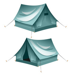 Cartoon tent set isolated vector