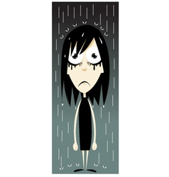 Emo girl - bad day vector