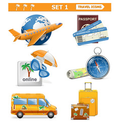 Travel icons set 1 vector