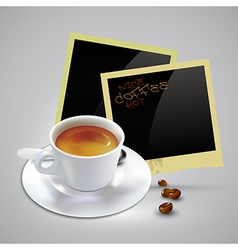 Coffee document template vector image