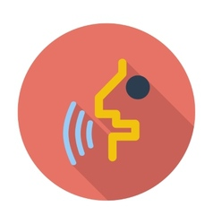 Voice recognition button vector