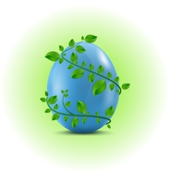 Egg in the leafs vector image