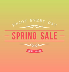 With template text spring sale creative des vector