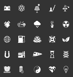 Renewable energy icons on gray background vector