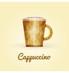 Cappuccino triangular logo vector