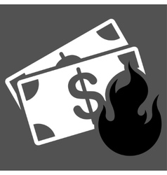Fire accident icon from commerce set vector