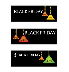 Black friday label with percentages discount promo vector