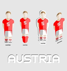 Austria soccer team sportswear template vector