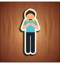 Sick person design vector
