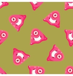 One-eyed alien seamless pattern vector