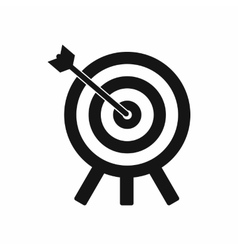 Target icon in simple style vector
