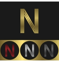 N Letter logo vector image