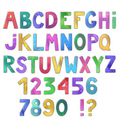 Awesome colorful wooden alphabet isolated on vector