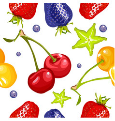 berry seamless pattern vector image vector image