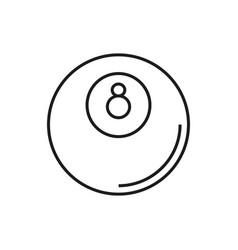 billiard icon on white background vector image vector image