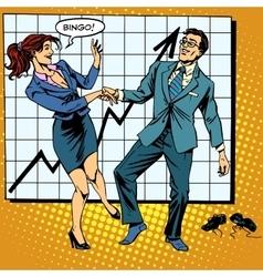 Bingo financial success dance business vector
