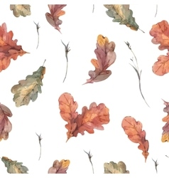 Botanical autumn seamless pattern vector image