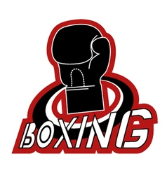 boxing icon vector image vector image