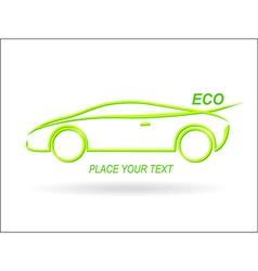 Car ECO vector image
