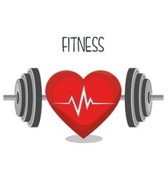 Cartoon barbell fitness sport elements design vector