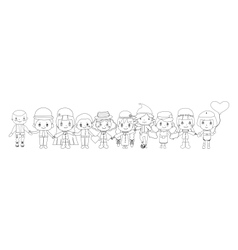 children sketches vector image