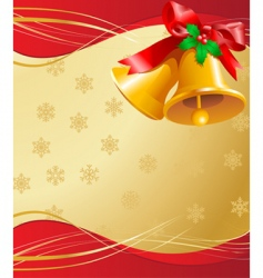 Christmas bells card vector image