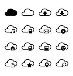 Cloud Storage Icons Set vector image vector image