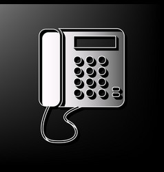 communication or phone sign gray 3d vector image vector image