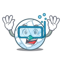 Diving volley ball character cartoon vector