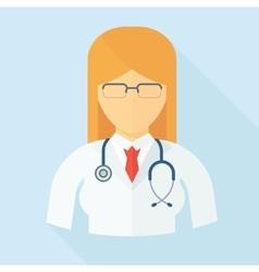 doctor woman color icon vector image vector image