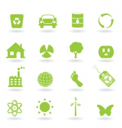 ecofriendly icon vector image vector image