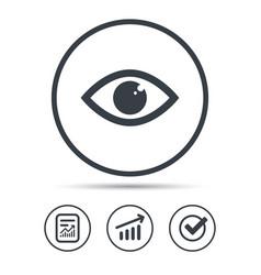 Eye icon eyeball vision sign vector