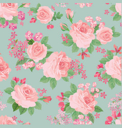 floral seamless pattern flower background garden vector image vector image