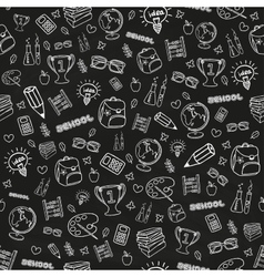 Hand drawn seamless school background vector image vector image