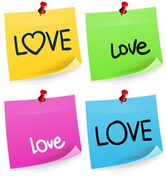 Love Sticky Note vector image vector image